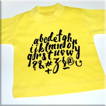 Forever Black letters on Yellow shirt