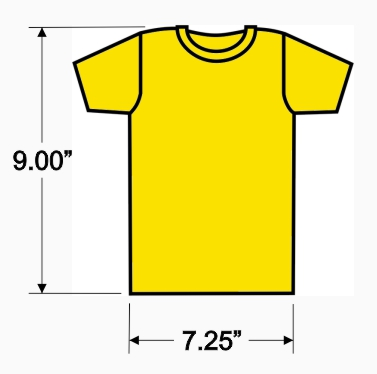 MSP Mini-ts size chart